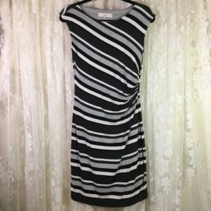 Ann Taylor LOFT  Petites Striped Sleeveless Dress